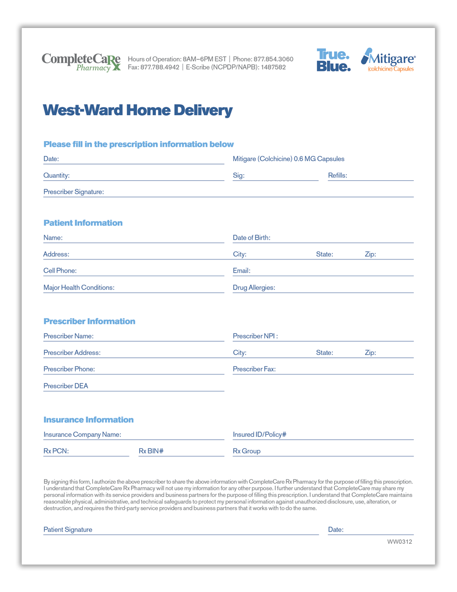 CompleteCare Home Delivery Form