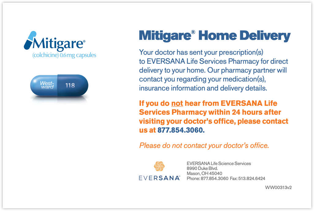 Mitigare<sup>®</sup> Pharmacy Patient Card