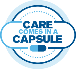 care comes in a capsule seal